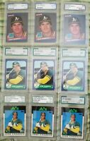 Jose Canseco Rookie Card Graded  LOT of 9 cards...8.0NM-MT to 10.0 Gem-Mint