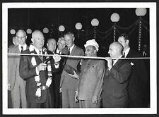 "Press photo 1959 India Visit - EISENHOWER OPENS AMRIKI MELA - REPAIRED - 5"" X 7"""