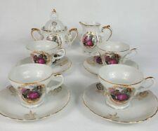 Vintage 4 Cup Sugar Creamer Demitasse  Set - Courtship 1146 - Total 11 PIECES