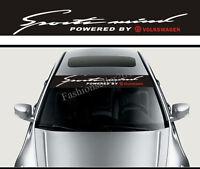 SPORT VW Front Windshield Decal Vinyl Car Sticker for Volkswagen Auto Window DIY