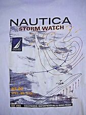 VINTAGE 90s NAUTICA mens pocket t shirt L MADE IN USA sailing STORM WATCH