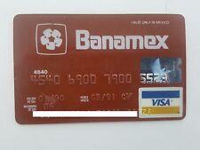 MEXICO - VISA - EXPIRED - CREDIT CARD - BANAMEX BANK - 1990 - OLD & RARE
