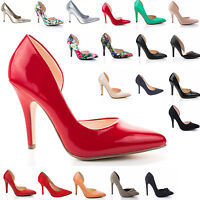 Classic High Heel Pointy Toe Dress Plain Pump Women Shoes.