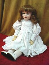 "Vintage JDK KESTNER Bisque Composition Antique Doll Reproduction 22"" CAROLE 1984"