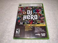 DJ Hero (Microsoft Xbox 360, 2008) Game Complete Excellent