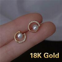 Fashion 925 Silver Zircon Crystal Earrings Ear Stud Women Drop Dangle Jewelry