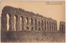 ROMA - VIA APPIA NUOVA - AVANZI DELL'ACQUEDOTTO DI CLAUDIO 1909
