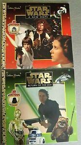 2 Star Wars Return of the Jedi And  A New Hope. 20 Tattoos Golden Books 1997