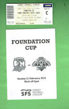 #D352.  2010 FOUNDATION CUP RUGBY LEAGUE PROGRAM & TICKET, ROOSTERS V TIGERS
