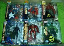 Marvel select lot disney hulkbuster captain america red hulk black panther thor