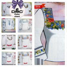 Boho Embroidery Cross Stitch Patterns for Ukrainian Vyshyvanka Blouse Dress / EU