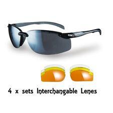 Sunwise Pacific Schwarz Austauschbare Linse Sonnenbrille mit gratis Hardcase