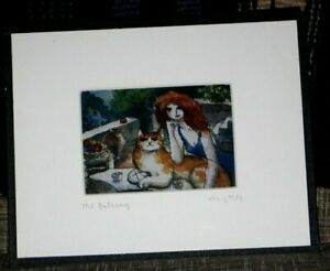 'The Balcony'-Michael Leu Signed Print-Framed & Matted by Gallery Leu Inc.