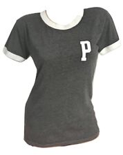 Victoria's Secret PINK (NWT) Graphic T-Shirt Color Charcoal Gray X-Small