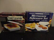 MEDALLION MICROWAVE BAKEWARE MUFFINS SET BONUS  MICROWAVE FOOD CASSEROLE BOWL
