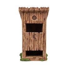 Faery Outhouse Mini Fairy Garden Out House Faerie Miniature Patio Decor