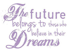 Stamperia Stencil   The Future Belongs to those Who Believe in their Dreams