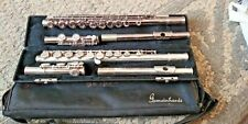 VTG 2 NICE GEMEINHARDT FLUTES A SILVER 2SP-F54695 WITH CASE + A CHROME M2-C07512