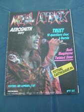 Metal Attack 9 1984 AEROSMITH TWISTED SISTER TRUST RUSH BLASPHEME BERNIE BONVOIS