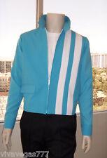 (Med) Elvis Turq Blue Speedway Jacket (Tribute Artist Costume) Pre Jumpsuit Era