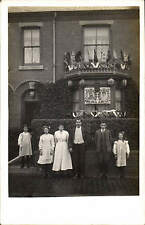 Walsall posted House & George V Coronation Decorations. East View / Blackeley.