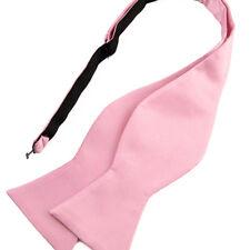 NOEUD PAPILLON à nouer rose corail pour homme - Men Coral pink self Bowtie