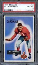 1955 Bowman PAT SUMMERALL #52 Chicago Cardinals - ROOKIE - PSA 8