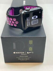 Apple Watch Series 2 Nike+, 42mm, Space Grey, Black/Pink Sport Band - Grade C