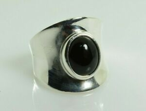 ESPO Joseph Esposito Onyx Ring in Sterling Silver Size 7