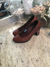 TIMBERLAND Ion-Mask Tech brown pebble leather Pumps Heels  shoes US 8