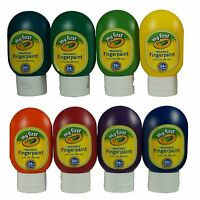 Crayola Washable Finger Paint 8 Bottles with easy clean pour to minimize mess