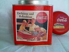 Vintage Coca Cola Dome Lid Tin Circa 1993