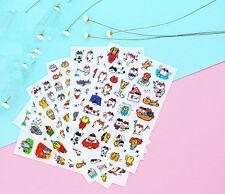 6 Sheets Cartoon cat expression diary Decorative transparency Diary Sticker