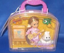 DISNEY ANIMATORS COLLECTION DESIGNER PRINCESS RAPUNZEL TODDLER MINI DOLL PLAYSET