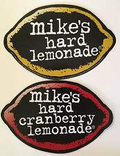 Beer Signs - Mikes Hard Lemonade/Hard Cranberry Lemonade Signs Double Sided NOS