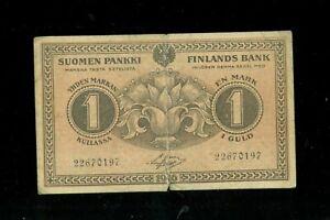 Grand Duchy of Finland 1 Markka 1916 Suomi Markkaa Suomen Suuriruhtinaskunta WWI