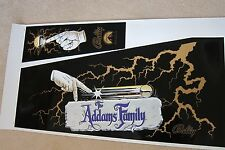 ADDAMS FAMILY GOLD Screen Printed Cabinet Decal Set, PERFECT & RARE!