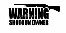 2 pegatinas warning Shotgun owner rifle auto sticker decal 17 cm tuning JDM