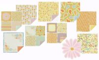 WRMK 12x12 Double-sided Cardstock Set - 8 Sheets + 1 Glitter + 1 Large Die-cut