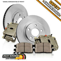 Front OE Calipers + Brake Rotors +Ceramic Pads For Cadillac CTS STS