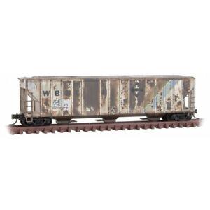 Micro-Trains MTL N-Scale 3-Bay Covered Hopper IC&E/Erie Western Weathered #23576