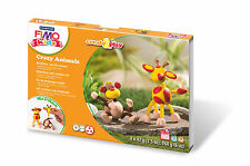 FIMO Kids form & Play Crazy Animali Set Giraffe & Monkey Craft Level 3 DIVERTENTE 06