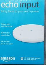 Amazon Echo Input - Add Alexa To Your Own Speaker or Sound System - White New!