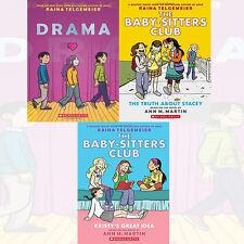 Raina Telgemeier & Ann M. Martin 3 Books Collection Set Truth about Stacey New