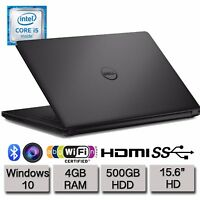 "Dell Inspiron 15 3558 15.6"" HD Laptop Intel Dual Core i5 4GB RAM 500GB HDD Win10"