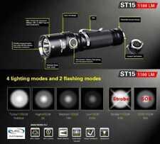 Klarus ST15 Taschenlampe mit 1100 Lumen Stroboskop Leuchtstufen Wetterfest