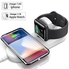 Qi Wireless Fast Charger Charging Pad for iPhone X/8/8 Plus & Apple Watch 1/2/3