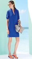 J.CREW Crepe Shift Dress Keyhole Blue Cobalt Electric Royal Career #09584 Sz 10