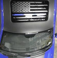 American Flag Distressed Decal Sunroof Merica Blue Line Mopar Charger Challenger