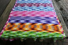 Vintage Handmade Crochet Afghan/Throw Watercolor Tie Dye Candy Colors